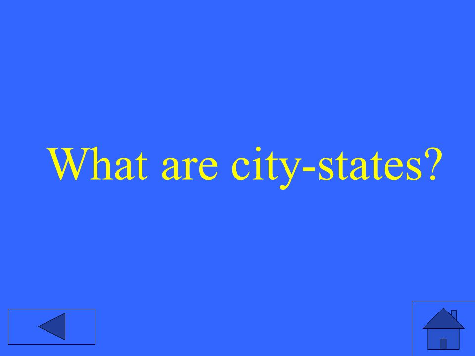 What are city-states