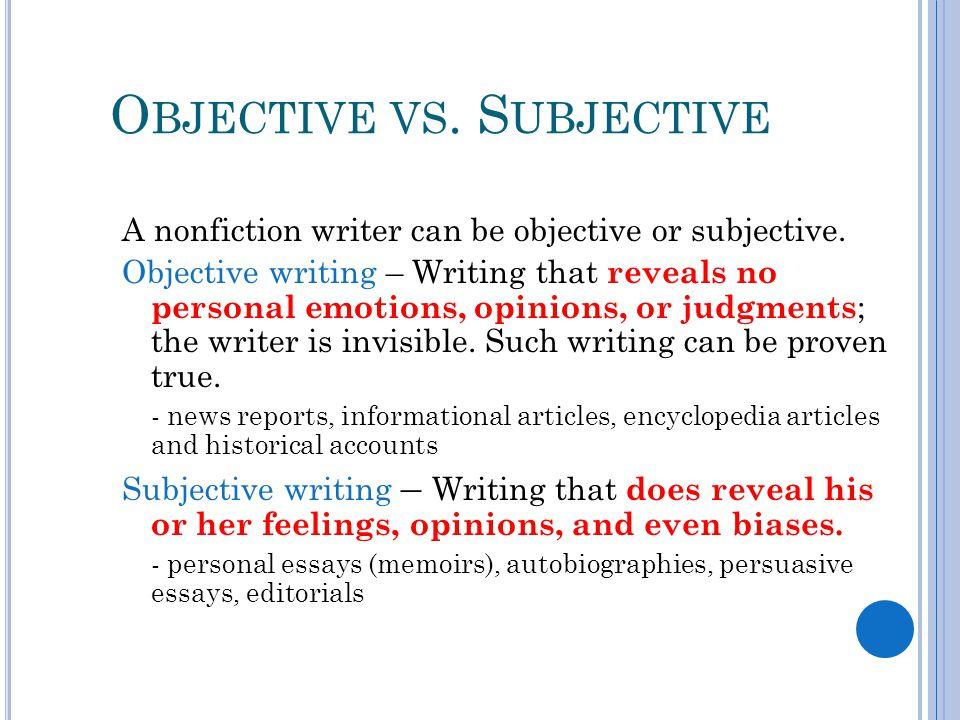 non fiction writing writing a