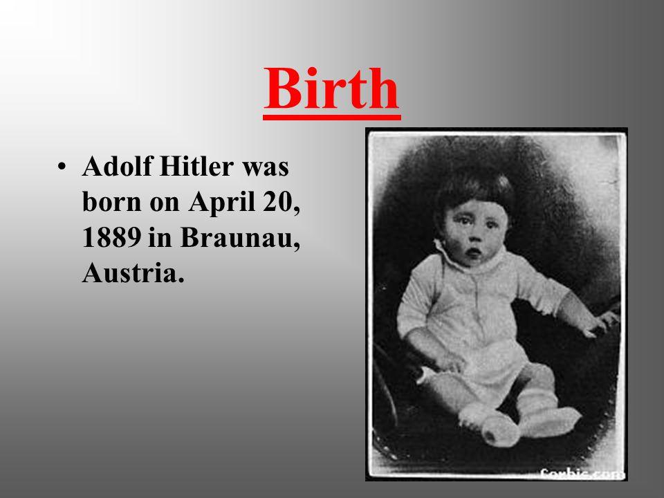 a biography of adolf hitler born in braunau am inn austria