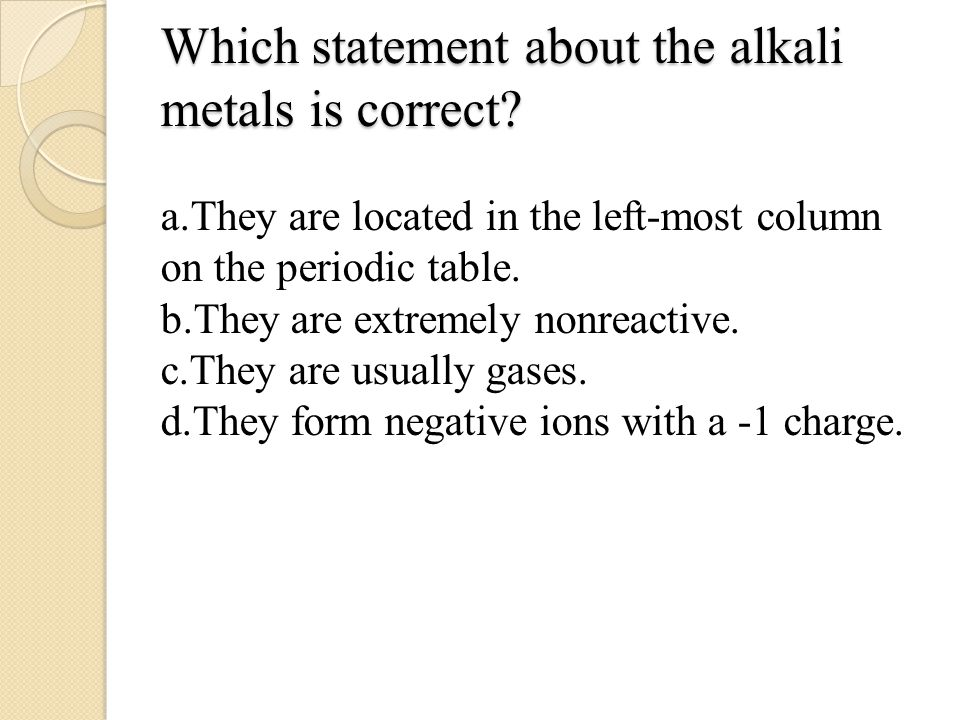 6 which - Periodic Table Charges Quiz