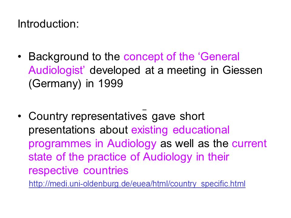 Report On European University Education In Audiology Efasdga Bad