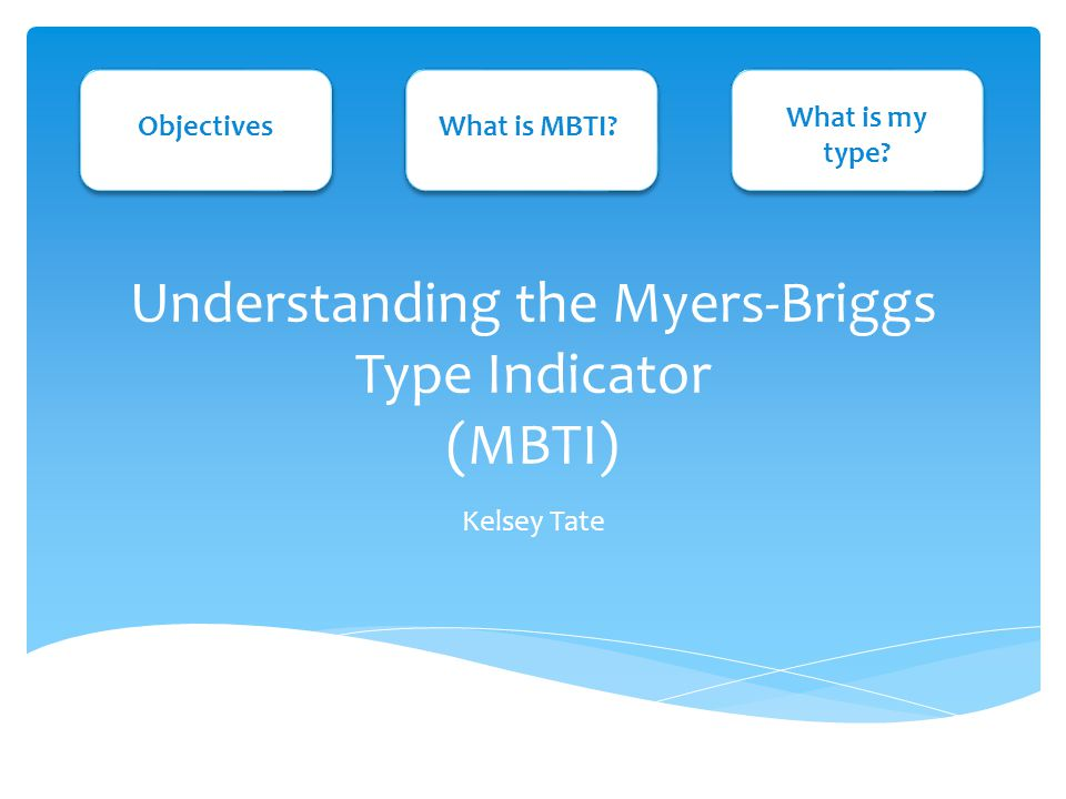 Understanding the Myers-Briggs Type Indicator (MBTI) Kelsey Tate ...
