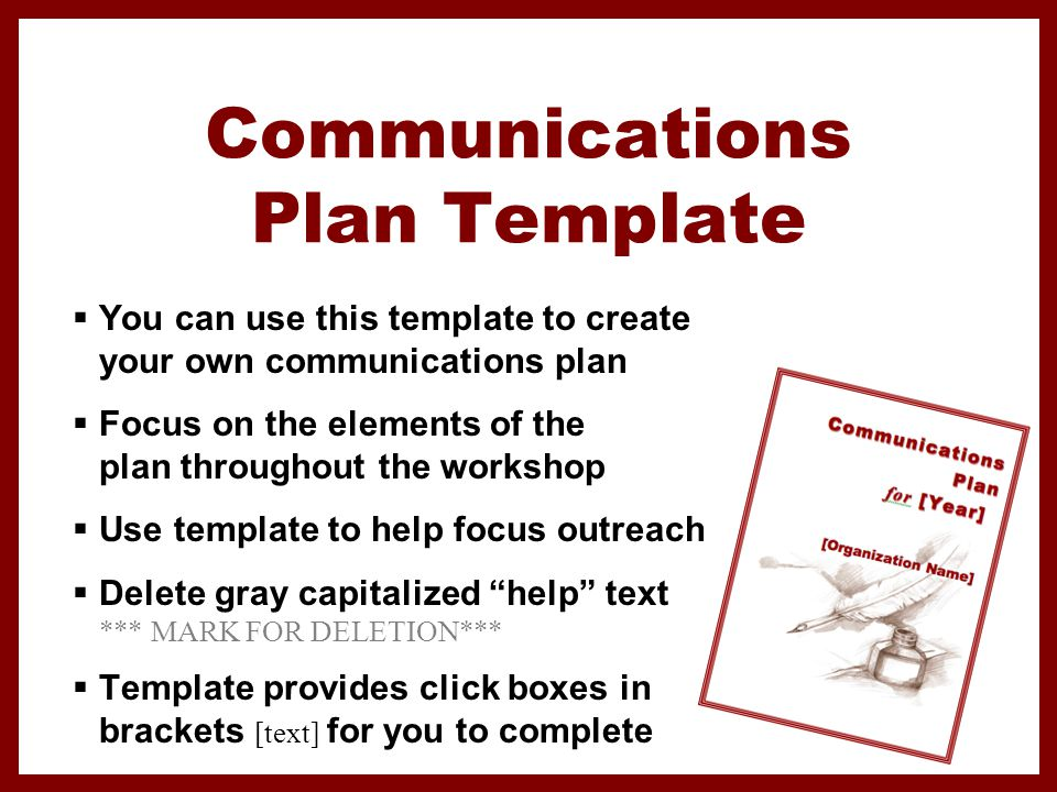elements of strategic communication plan Media toolkit for coalitions: a booster dose of communication strategies // january 2012 elements of a strategic communications plan goals: identify strategic goals that support your coalition's mission and purpose.
