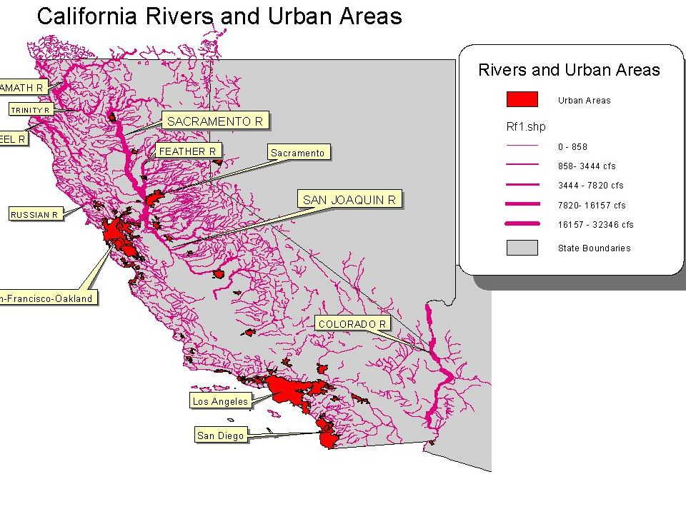 Water In California Selfinduced Scarcity Waterscape - California river map