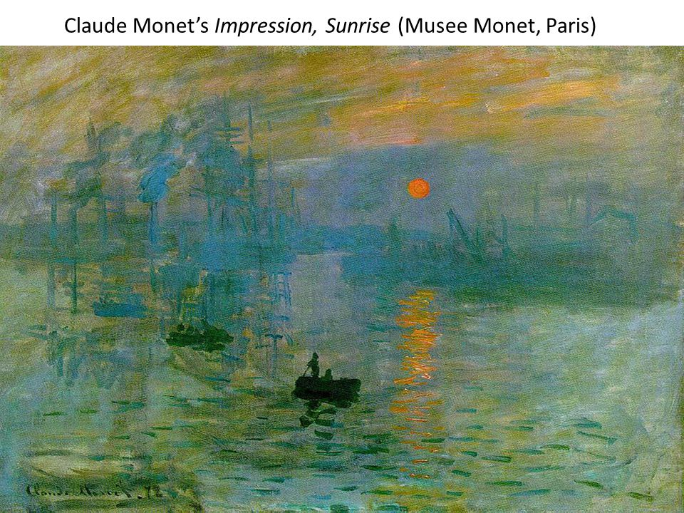 Claude Monet's Impression, Sunrise (Musee Monet, Paris)