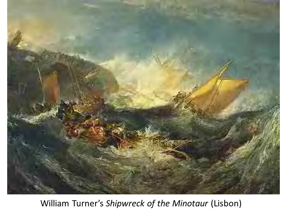 William Turner's Shipwreck of the Minotaur (Lisbon)