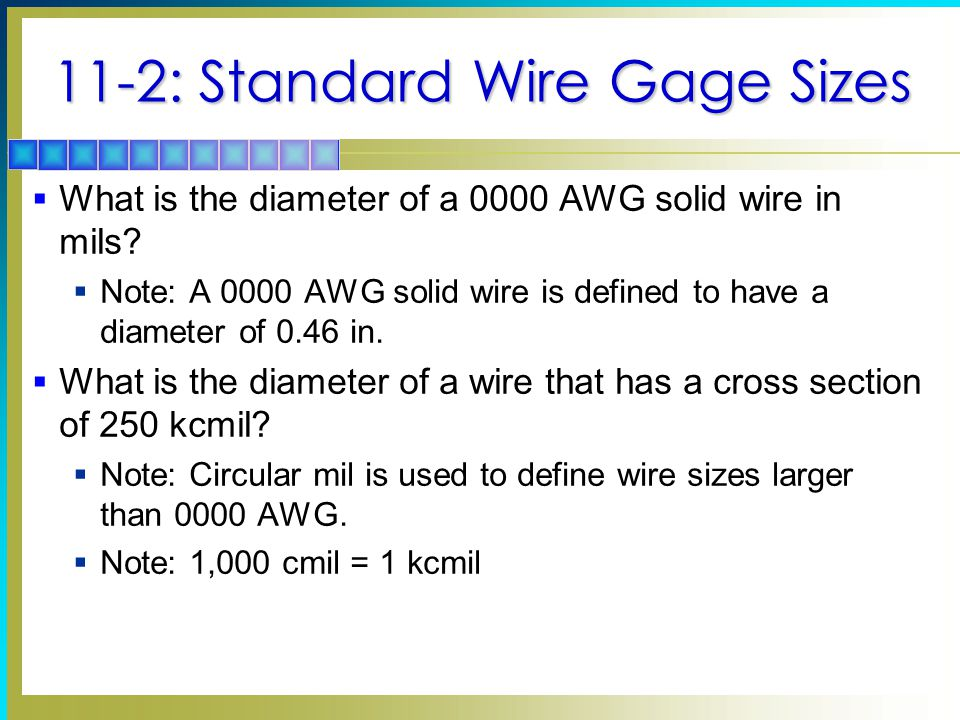 Conductors and insulators topics covered in chapter function of 11 2 standard wire gage sizes what is the diameter of a 0000 greentooth