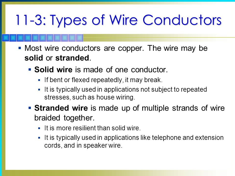 11 3 Types Of Wire Conductors Most Are Copper