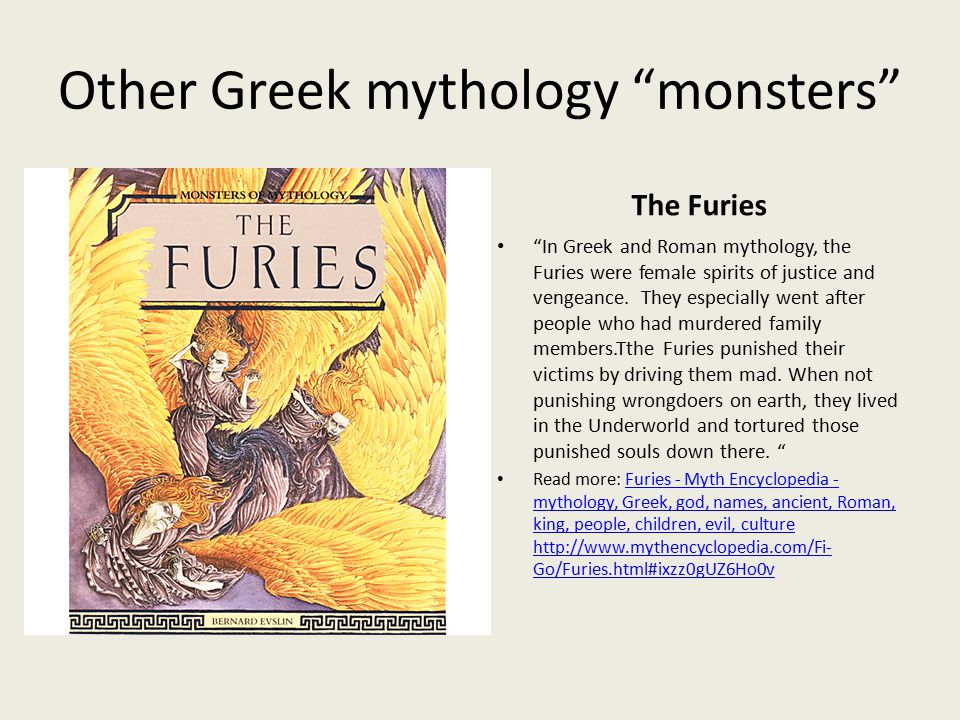 Why do monsters exist in Greek Mythology?