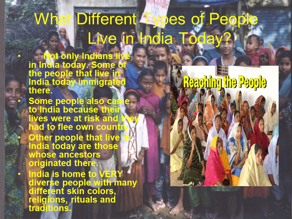 What Different Types of People Live in India Today.