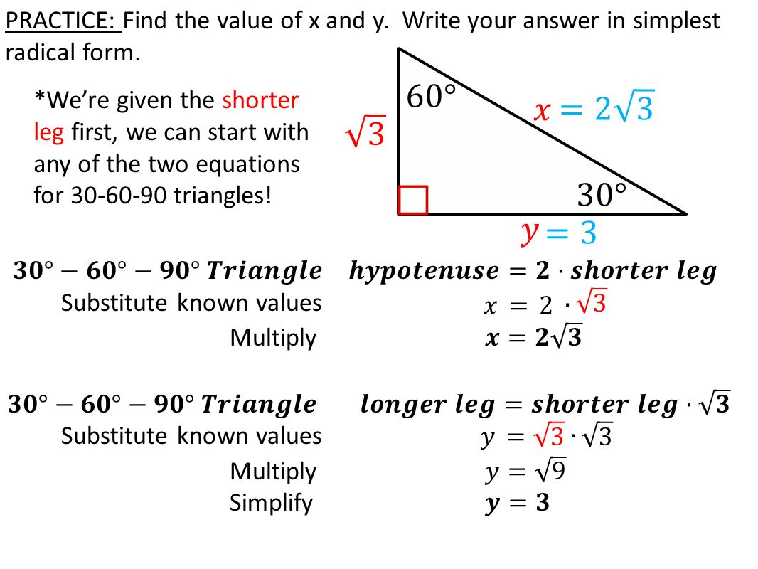 worksheet 30-60-90 Triangle Worksheet With Answers today in practice solving missing sides using the write your answer simplest radical