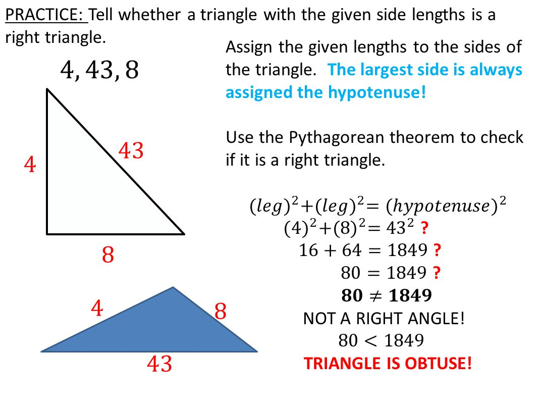 TODAY IN GEOMETRY…  Practice: Solving missing sides using the ...