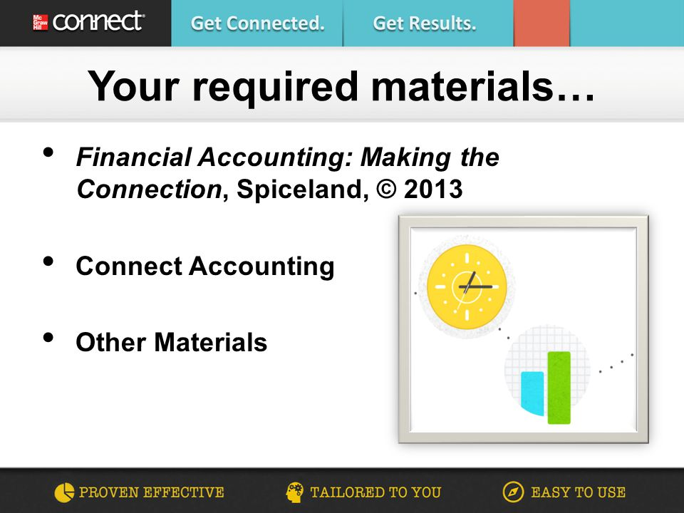 Are you connected financial accounting making the connection 2 financial accounting making the connection spiceland 2013 connect accounting other materials your required materials fandeluxe Image collections