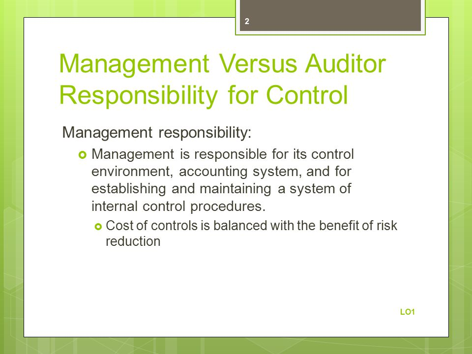 responsibility accounting and cost control