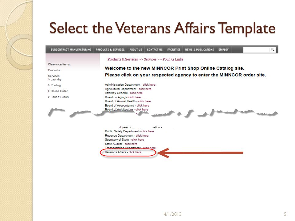Minnesota department of veterans affairs how to order business cards 5 select the veterans affairs template 4120135 colourmoves Images
