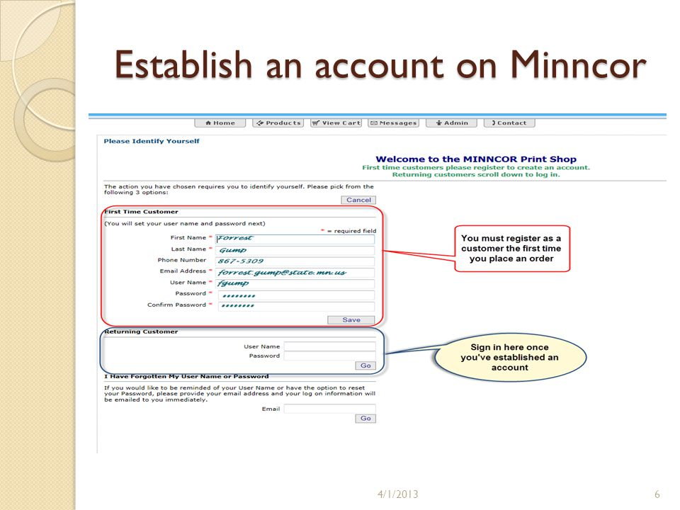 Minnesota department of veterans affairs how to order business cards 6 establish an account on minncor 4120136 colourmoves Images