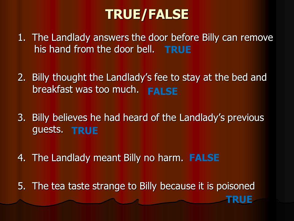 the landlady short story summary