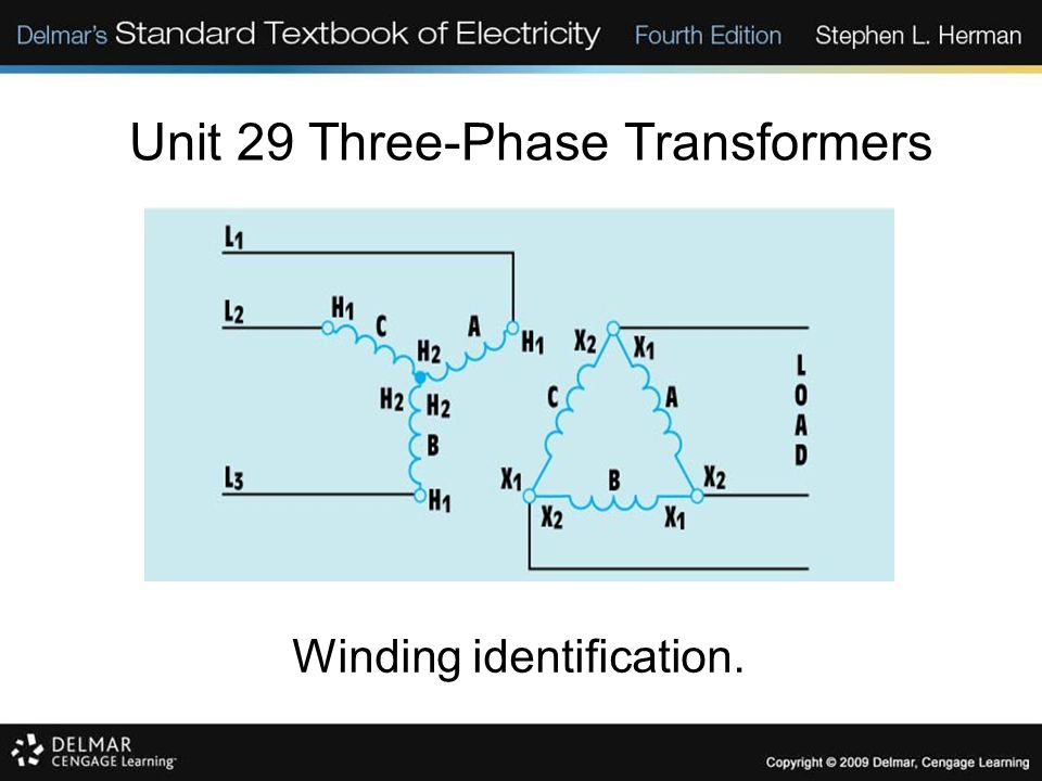 Unit 29 three phase transformers objectives discuss the 12 unit 29 three phase transformers winding identification sciox Images