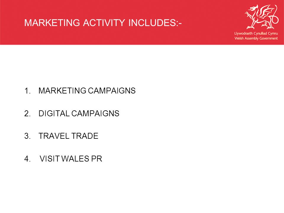 MARKETING ACTIVITY INCLUDES:- 1.MARKETING CAMPAIGNS 2.DIGITAL CAMPAIGNS 3.TRAVEL TRADE 4.