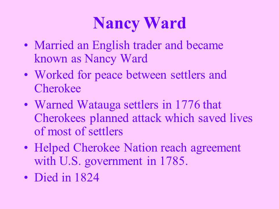 Nancy Ward Facts