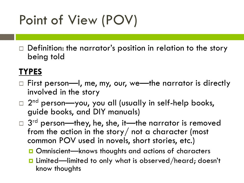 English Review of Point of View | Free Homework Help