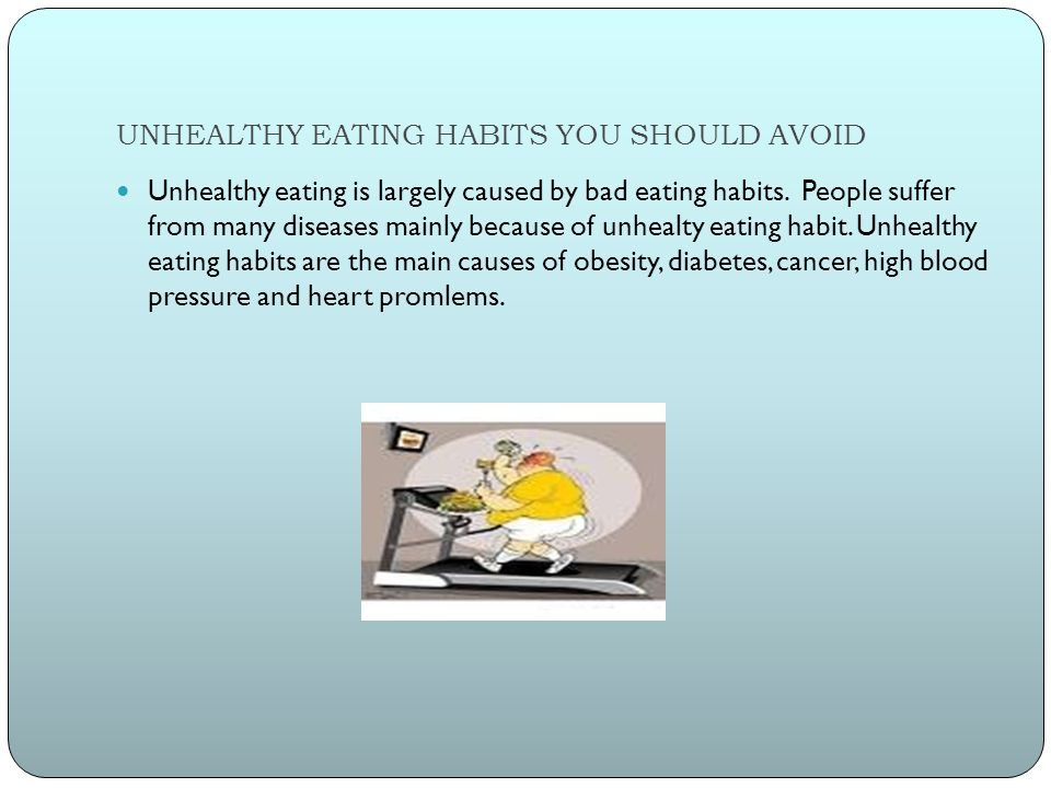 eating disorders unhealthy eating habits essay Habits bad habits binge eating this essay examines how observed eating habits link from eating disorders if his/her eating habits involve.