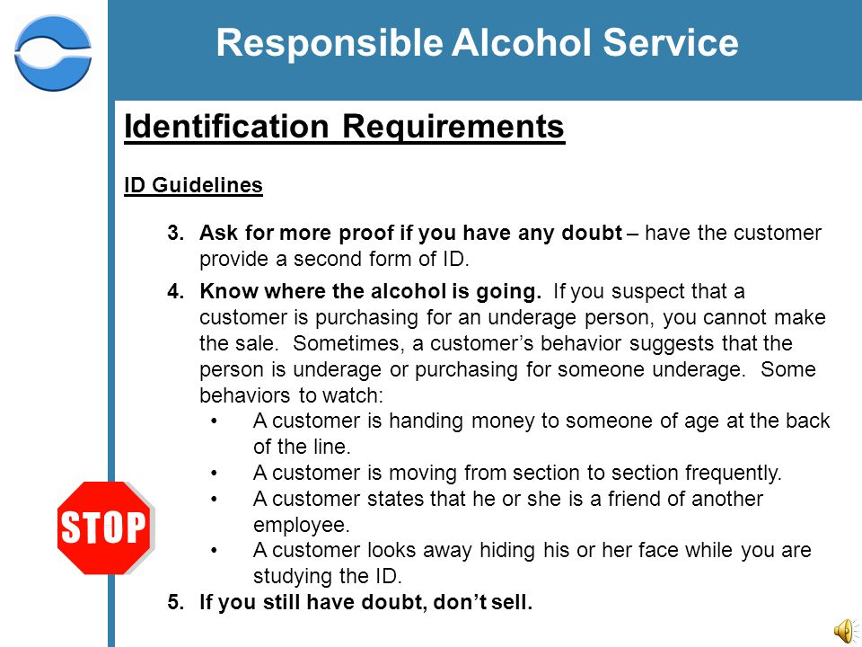 2 Responsible Alcohol Service Overview Centerplate is dedicated to ...