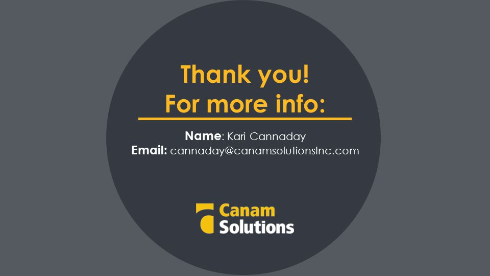 Thank you! For more info: Name : Kari Cannaday