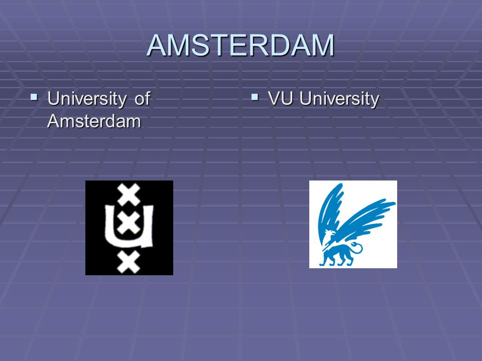 AMSTERDAM  University of Amsterdam  VU University