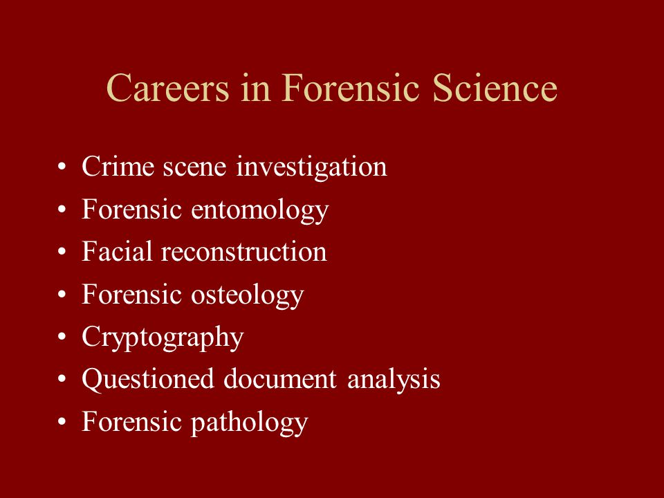 career as a forensic specialist Learn more about average forensic specialist salaries on simply hired compare average salaries by job title and skillset.