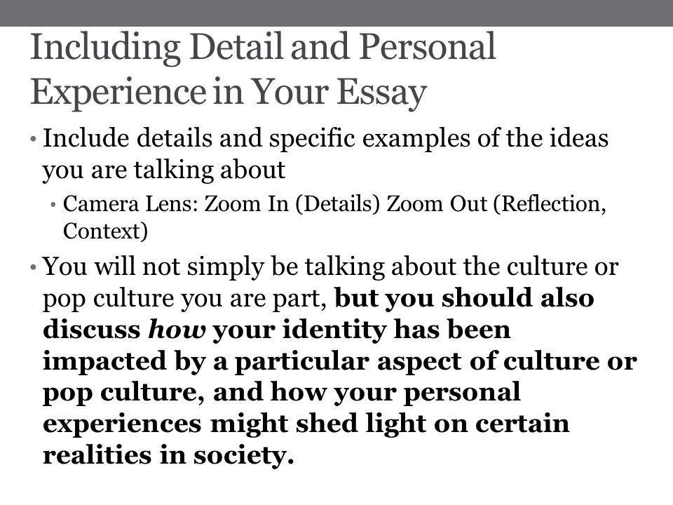 pop culture essay format of