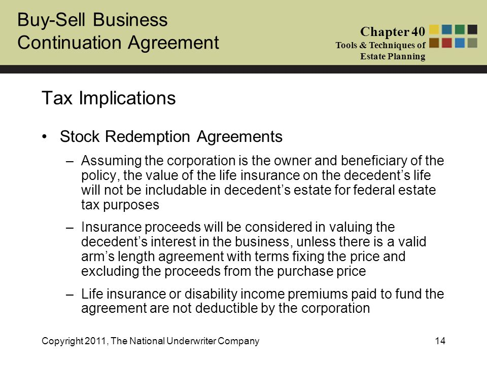stock redemption agreements