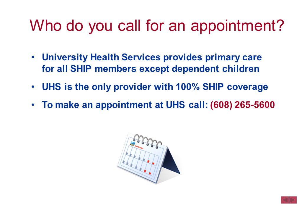 Who do you call for an appointment.
