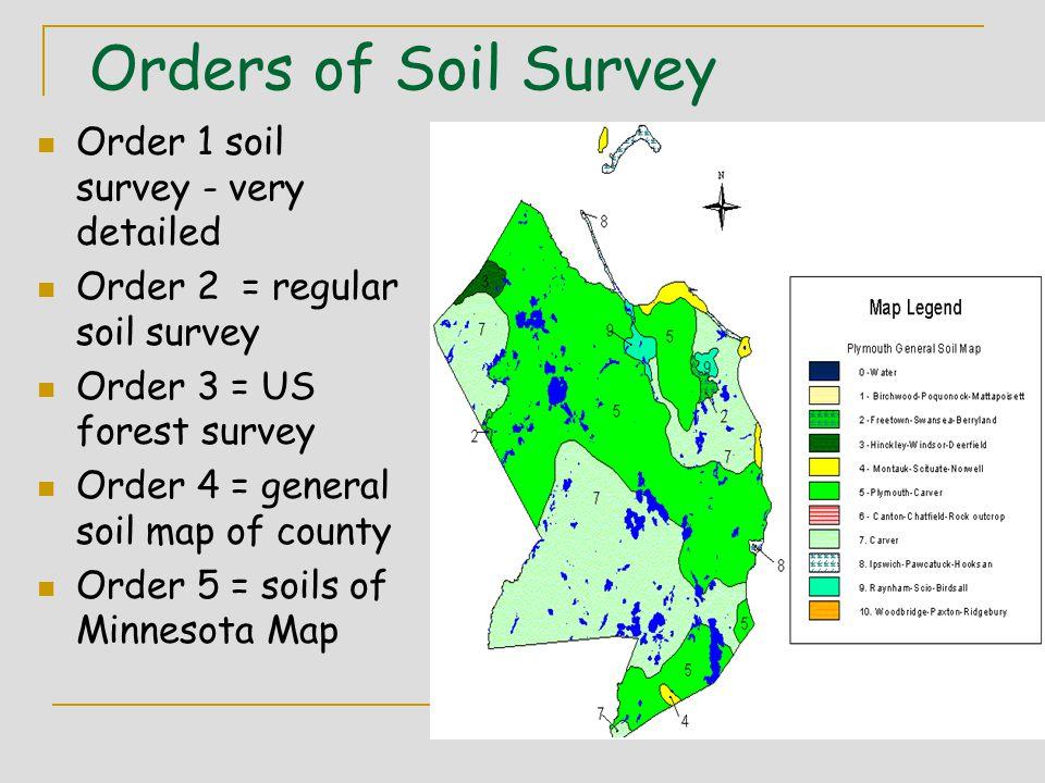 11 Orders Of Soil Survey Order 1 Soil Survey Very Detailed Order 2 Regular Soil Survey Order 3 Us Forest Survey Order 4 General Soil Map Of County