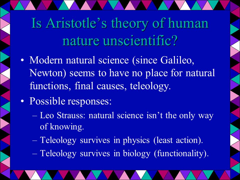 aristotle s theory of human nature essay