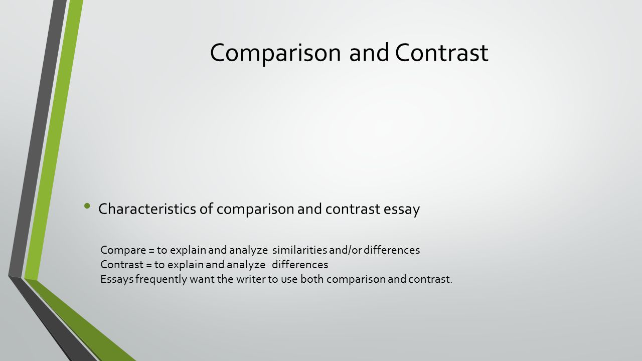 purpose of comparison and contrast essay