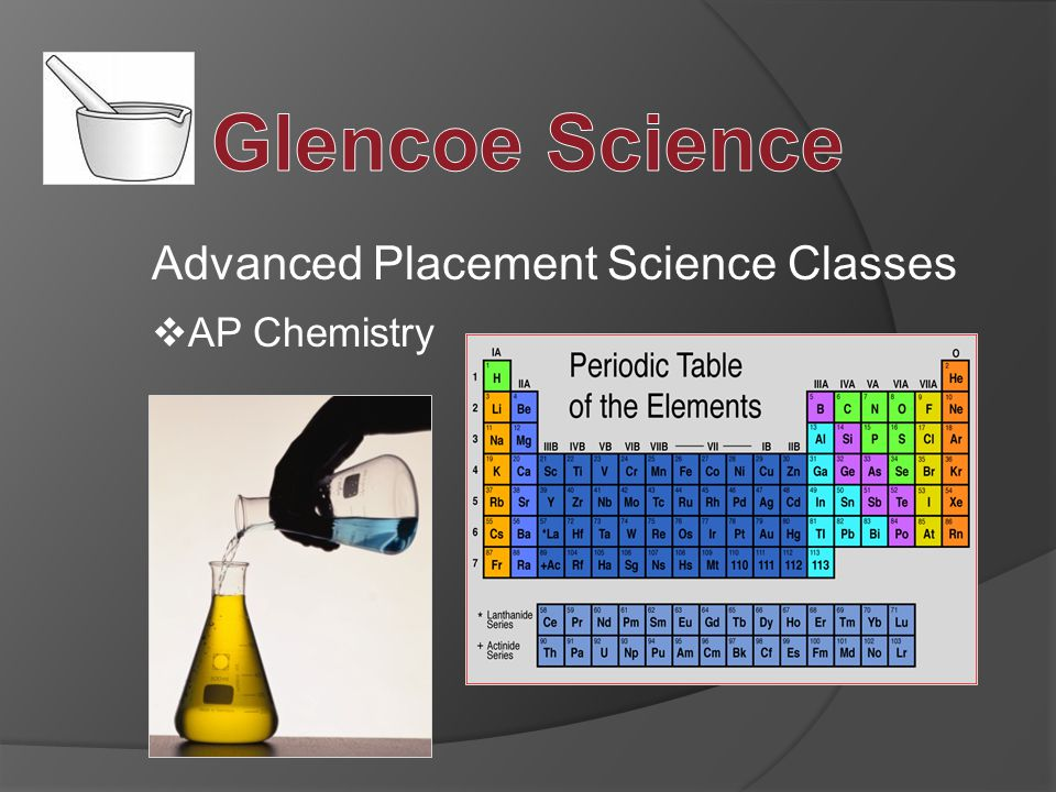 Advanced Placement Science Classes  AP Chemistry