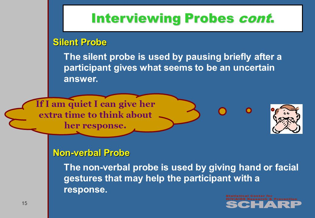 15 Interviewing Probes cont.