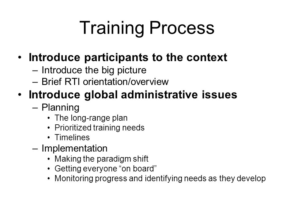 Training Process And Sample Training Agenda Basic Training The Sbs