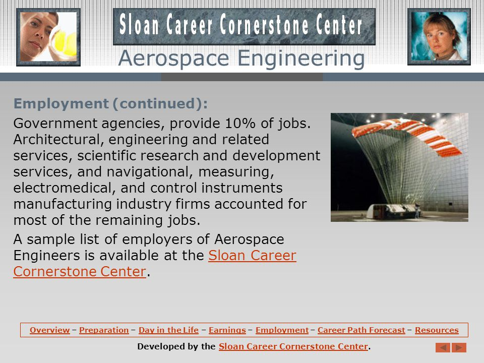 Aerospace Engineering Employment: According to the U.S.