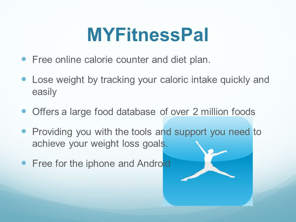 MYFitnessPal Free online calorie counter and diet plan.