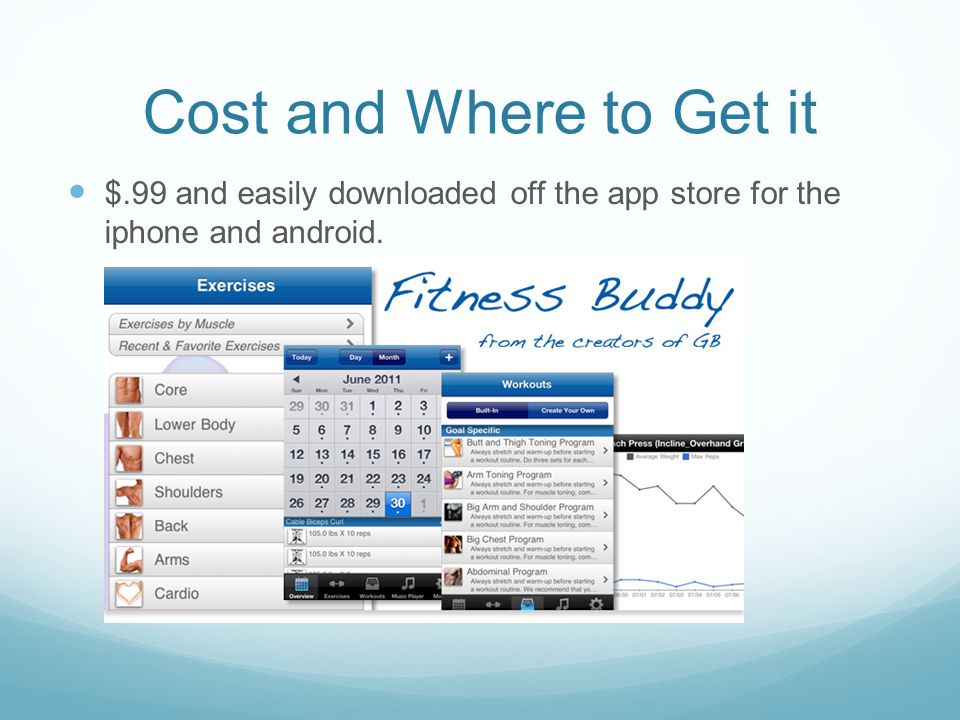 Cost and Where to Get it $.99 and easily downloaded off the app store for the iphone and android.