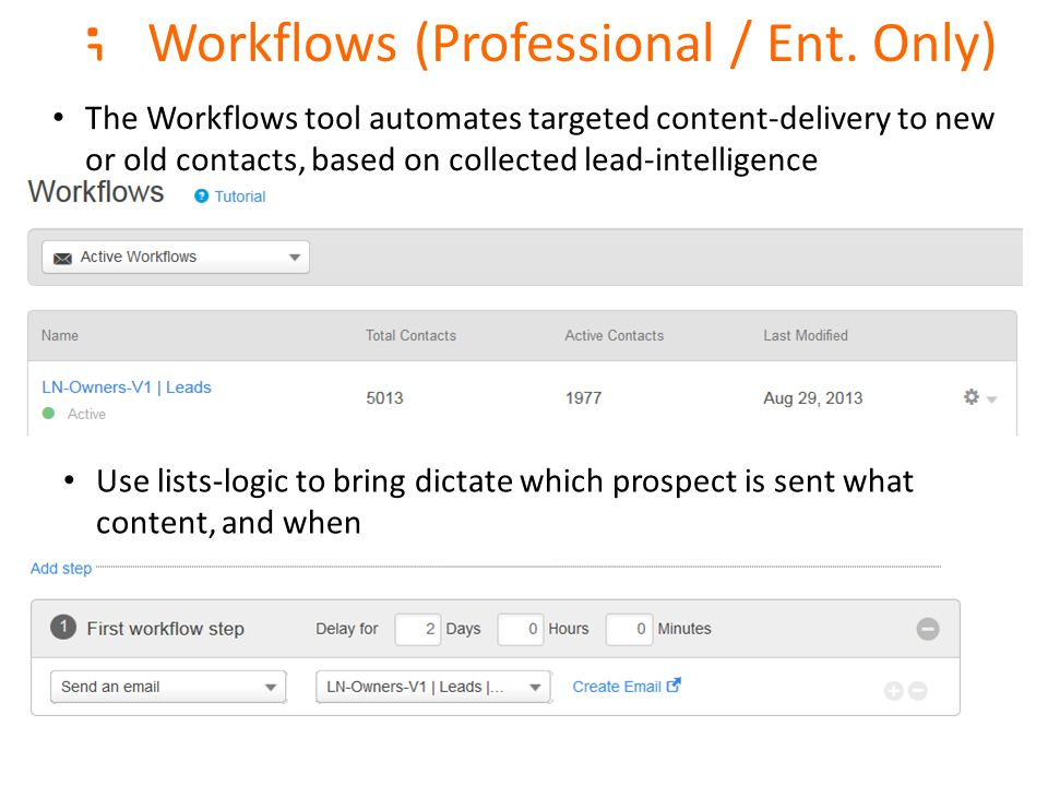 ; Workflows (Professional / Ent.