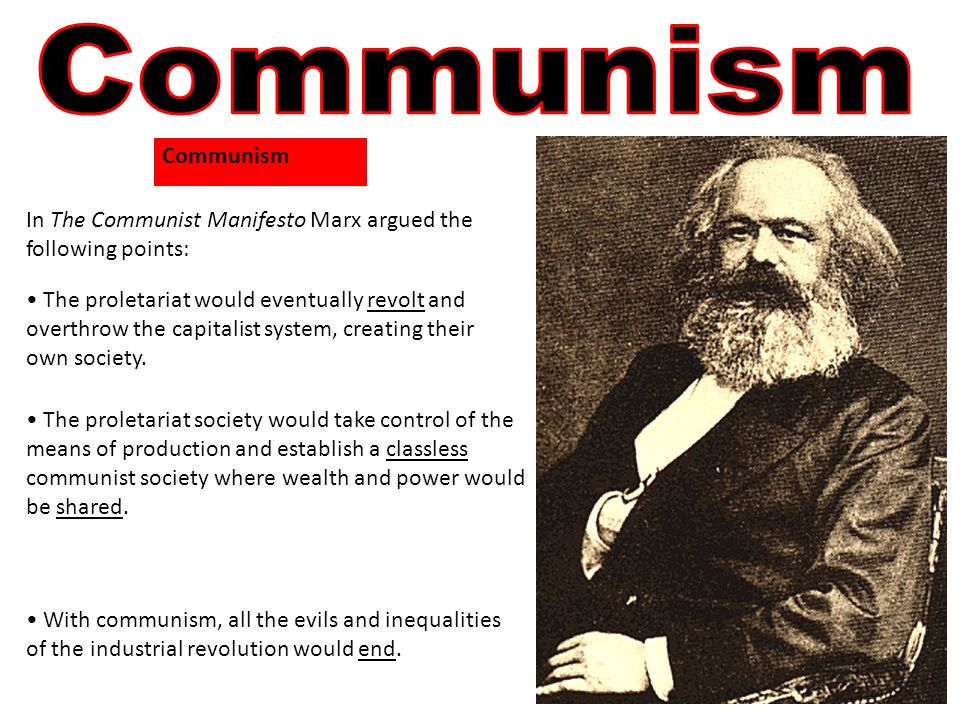 The proletariat society would take control of the means of production and establish a classless communist society where wealth and power would be shared.