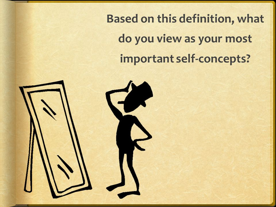 Based on this definition, what do you view as your most important self-concepts?