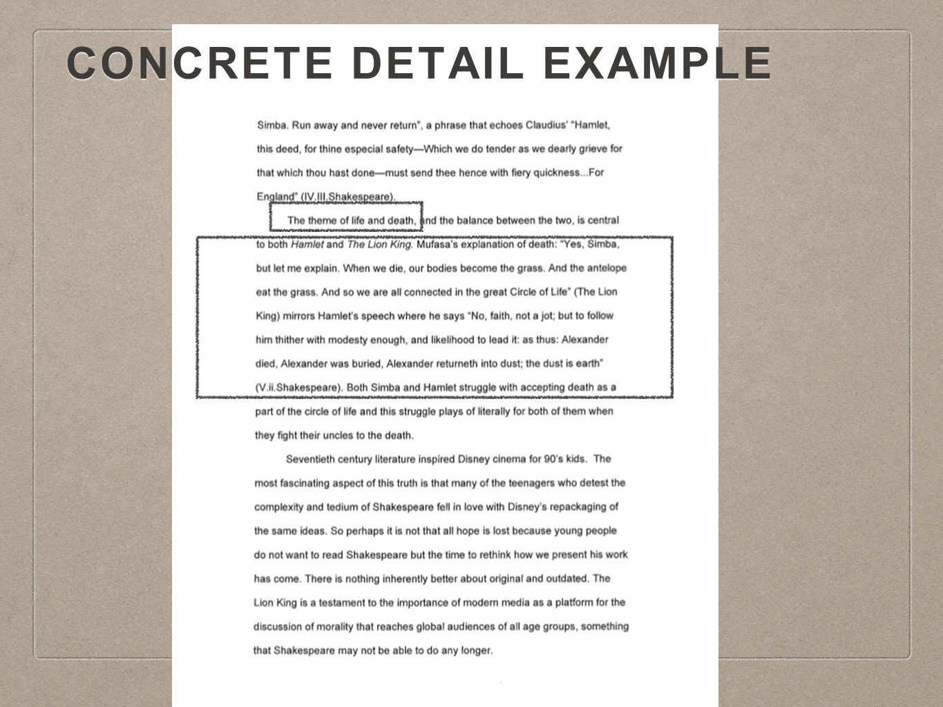 body paragraphs i can write an introduction but i don t know what 9 concrete detail example