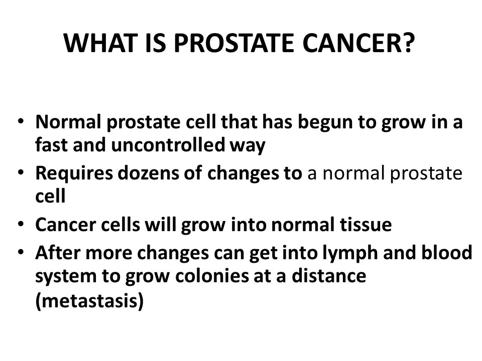 What is prostate cancer: A layperson's guide