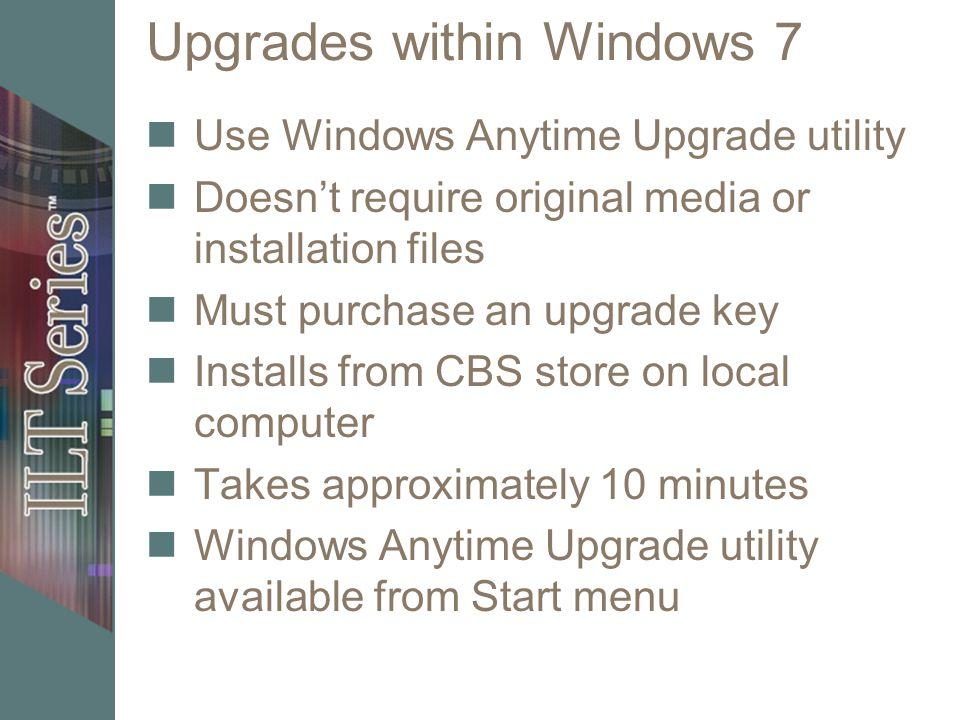 anytime upgrade windows 7
