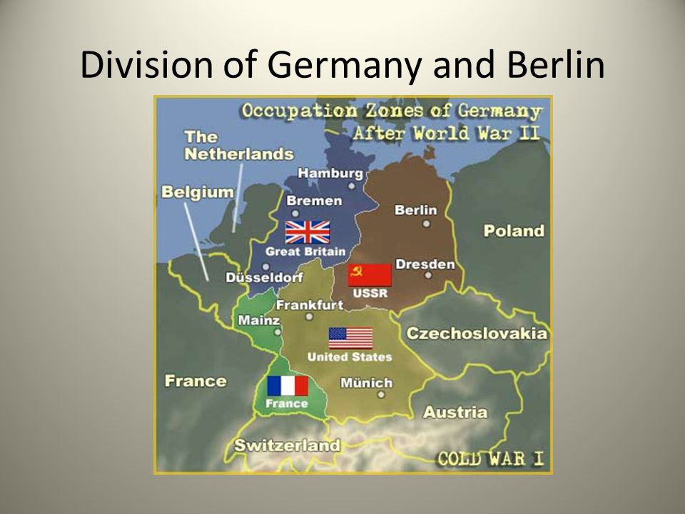 Division of Germany and Berlin