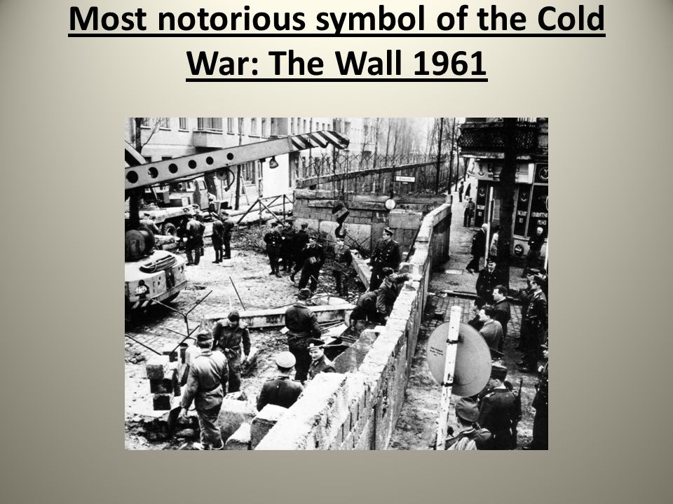 Most notorious symbol of the Cold War: The Wall 1961